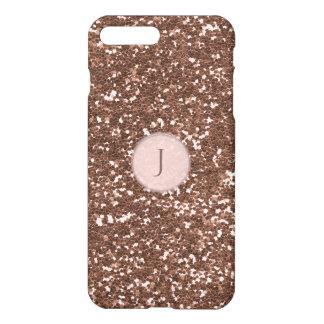 Printed Rose Gold Sparkly Glitter Monogram iPhone 8 Plus/7 Plus Case