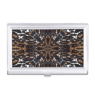 Printed Tiger Bling Pattern Business Card Case