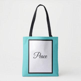 Printed Tote Bag, Peace