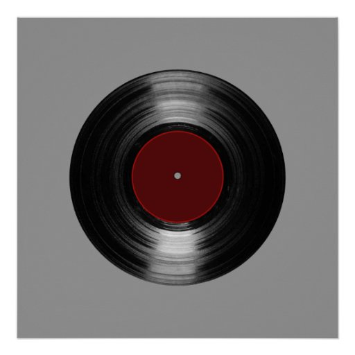 printed vinyl record poster