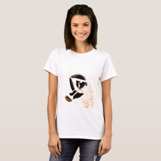 Printed white t-shirt with ambiguous design