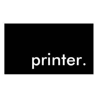 printer. business card template