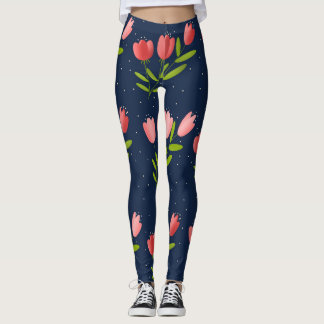 printing of tulips leggings