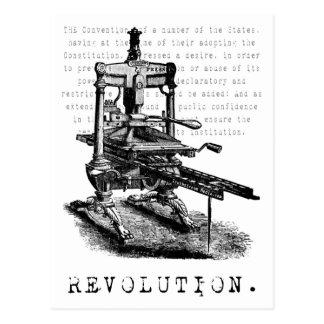 Printing Press = REVOLUTION! Postcard