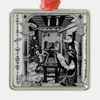 Printing workshop metal ornament