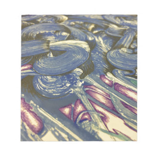 Printmaking Magic in Blues and Purples Notepad