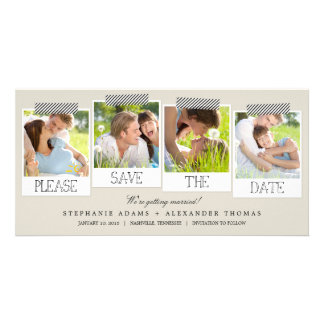 Prints Save The Date Photo Cards - Khaki
