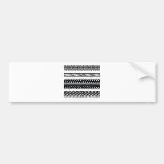 prints tire bumper sticker