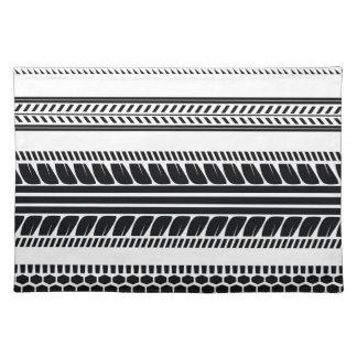 prints tire placemat