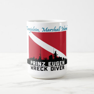 Prinz Eugen Wreck Diver Kwajalein Marshall Islands Coffee Mug