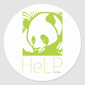 Priority species: Giant panda Round Sticker
