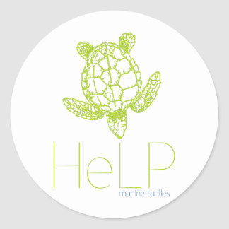 Priority species: Marine turtles Classic Round Sticker