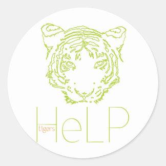 Priority species: Tiger Classic Round Sticker