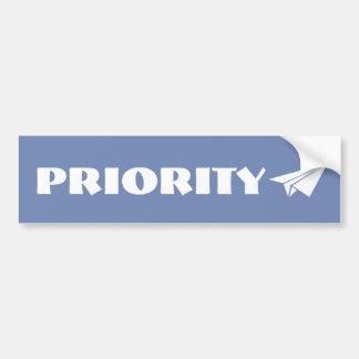 Priority Sticker Bumper Sticker