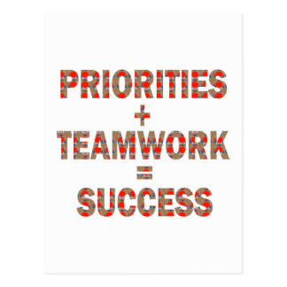 PRIORITY Teamwork Success Wisdom LOWPRICE GIFTS Postcard