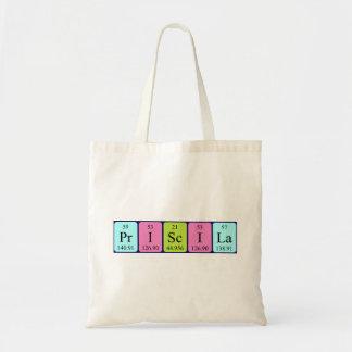 Priscila periodic table name tote bag