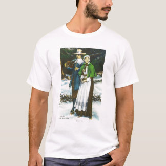Priscilla and John Alden Scene T-Shirt