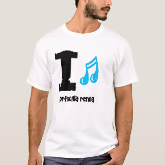 priscilla renea love blue T-Shirt
