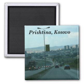 Prishtina, Kosovo Square Magnet