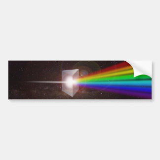Prism Color Spectrum Space Stars Galaxy  DE LaRue Bumper Sticker