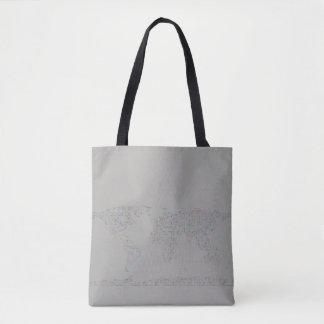 Prism TIC World map Tote Bag