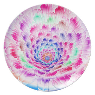 Prismatic Bloom Melamine Plate