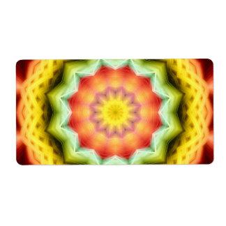 Prismatic Eye Mandala Shipping Label