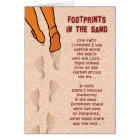 Prison Cards - Footprints in Sand