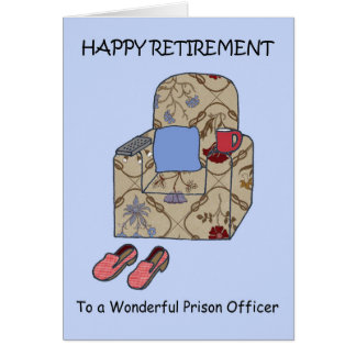 Prison Officer Happy Retirement Card