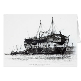 Prison Ship in Portsmouth Harbour Card
