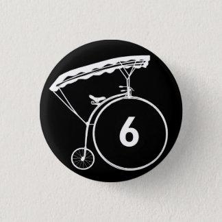 Prisoner Number 6 Button Badge Black