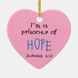 Prisoner of Hope Ceramic Heart Decoration