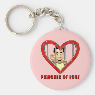Prisoner Of Love T-shirts and Gifts Basic Round Button Key Ring