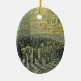 Prisoners Exercising by Vincent van Gogh Ceramic Oval Decoration