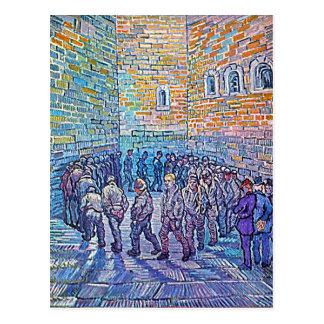 Prisoners Walking The Round Postcard