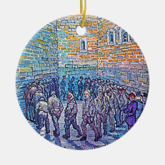 Prisoners Walking The Round Round Ceramic Decoration