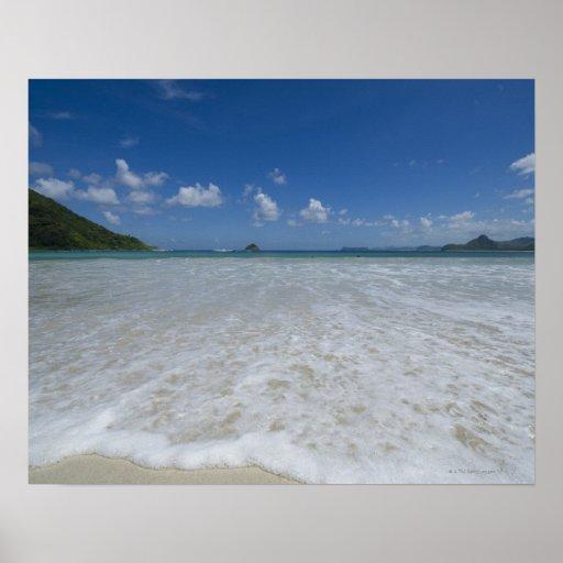 Pristine Tropical White Beach Print