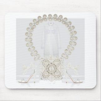 Pristine White Dress Mousepad