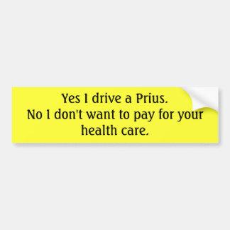 Prius Driving Capitalist Bumper Sticker