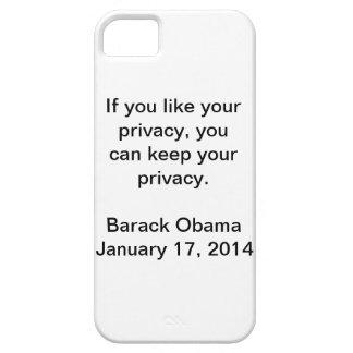 Privacy Barack Obama iPhone 5 Case