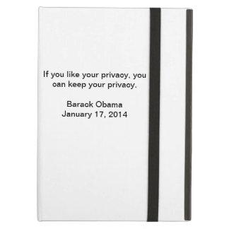 Privacy Barack Obama iPad Air Cases