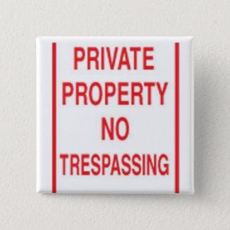 private 15 cm square badge
