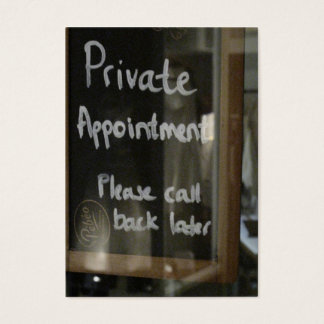 private appointment business card