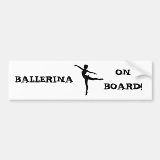 PRIVATE DANCER (silhouette - modern dance) ~ Bumper Sticker