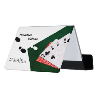 Private detective funny customizable desk business card holder