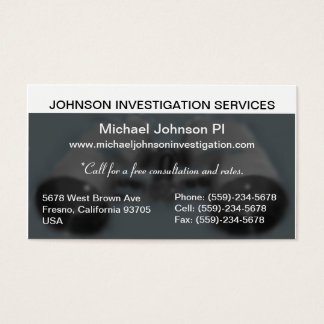 Private Investigation Business Card