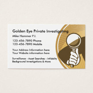 Private Investigator And Surveillance Business Card