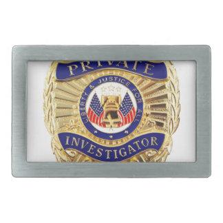 Private Investigator Badge Belt Buckles