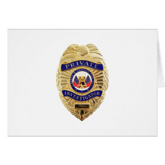 Private Investigator Badge Card