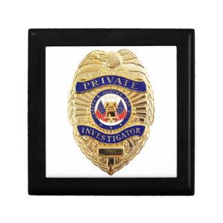 Private Investigator Badge Gift Box